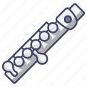 instrument, music, piccolo icon