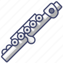 flute, instrument, music icon