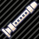 instrument, music, recorder icon