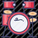 drum, hihat, kit, rhythm icon