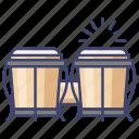 bongo, drum, orchestra, percussion icon