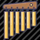chimes, instrument, percussion, tubular icon