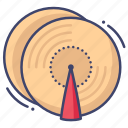 cymbals, instrument, percussion icon