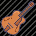 guitar, instrument, jazz icon