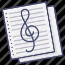 compose, music, paper, staff icon