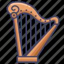 harp, instrument, music icon