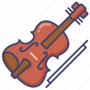 instrument, music, viola, violin icon