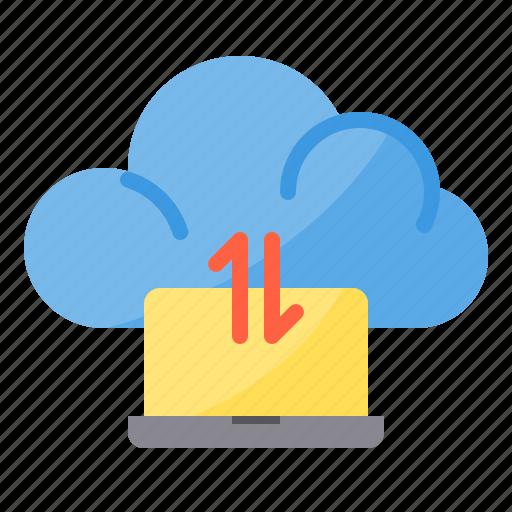 cloud, data, exchange, laptop, sync, transfer icon