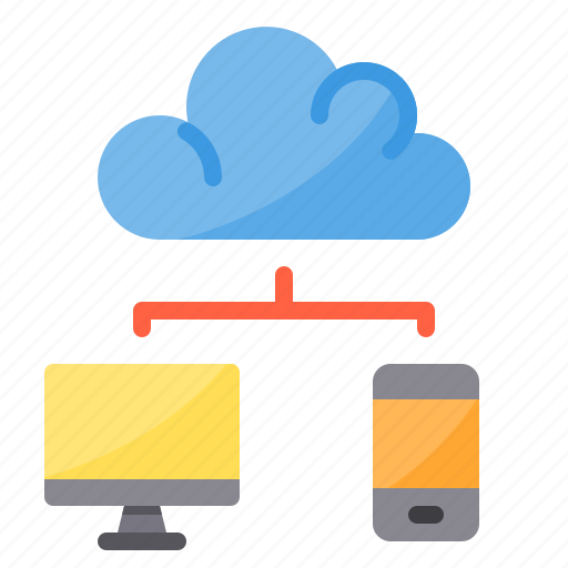 cloud, data, exchange, pc, smartphone, sync, transfer icon