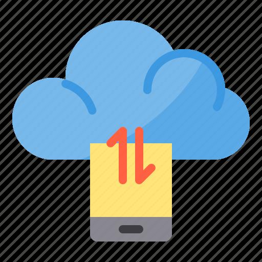cloud, data, exchange, smartphone, sync, transfer icon