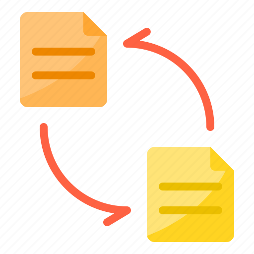 data, exchange, file, sync, transfer icon