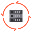 data, exchange, server, storage, transfer icon