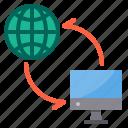 data, exchange, sync, transfer, world icon