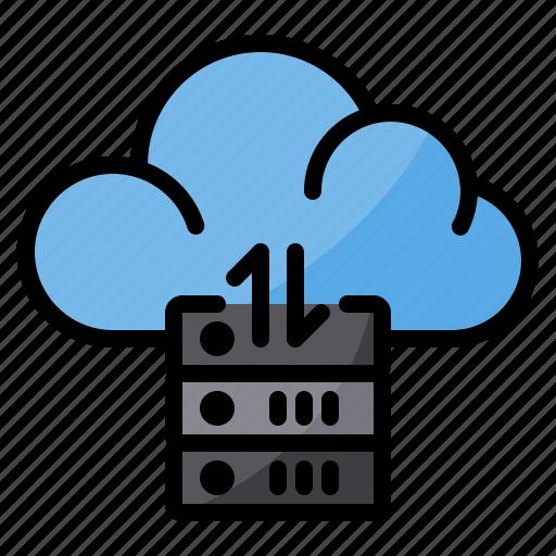 cloud, data, exchange, server, sync, transfer icon