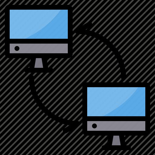 data, exchange, pc, sync, transfer icon