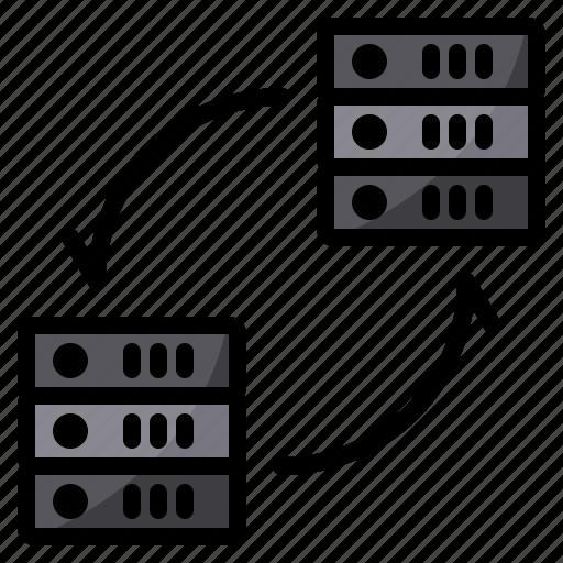 cloud, exchange, server, storage, transfer icon