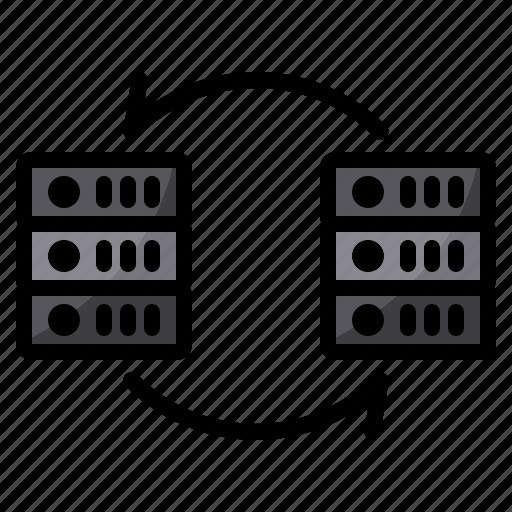 data, exchange, server, sync, transfer icon