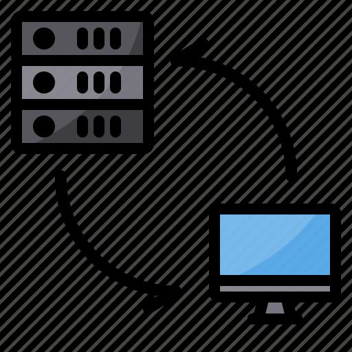 data, exchange, pc, server, sync, transfer icon
