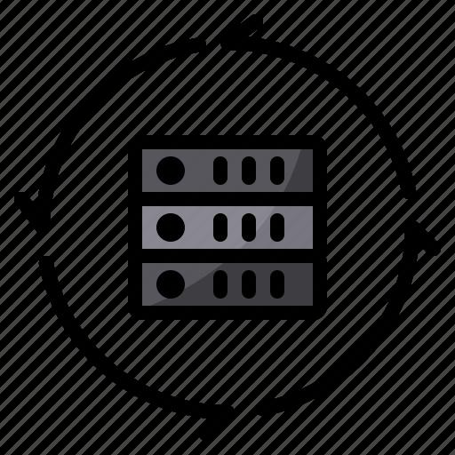 data, exchange, server, transfer icon