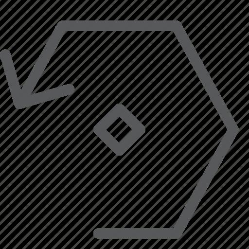arrow, back, dot, left, reload, reverse, sync, wait icon