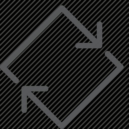arrows, diamond, loop, reload, reverse, synchronize icon