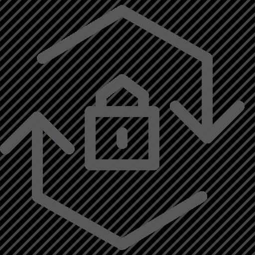 arrows, encrypt, lock, protect, reload, reverse, synchronize icon