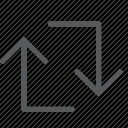 arrows, loop, reload, reverse, square, sync icon