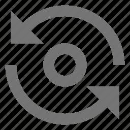 arrows, circle, loop, refresh, reload, renew, sync icon