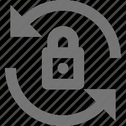 lock, refresh, reload, sync icon