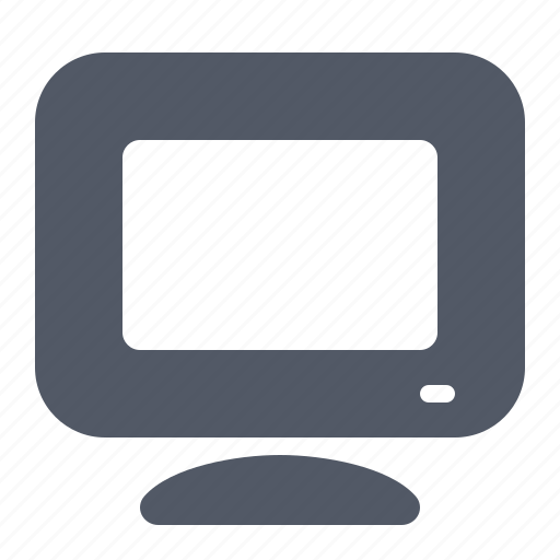 computer, desktop, display, hardware, monitor, pc icon