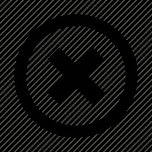 cancel, delete, system, ui icon