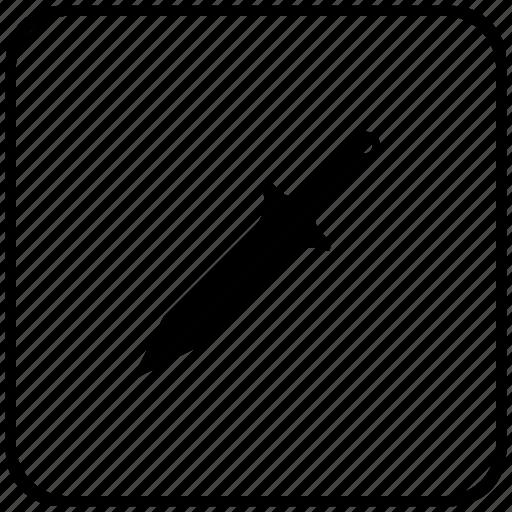 blade, function, key, knife, sword icon