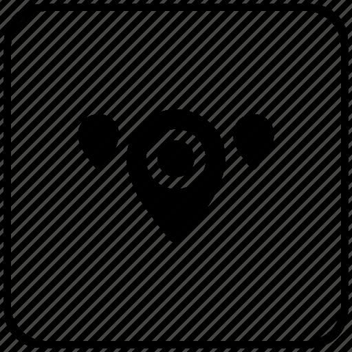 function, geo, key, map, pointer, region icon
