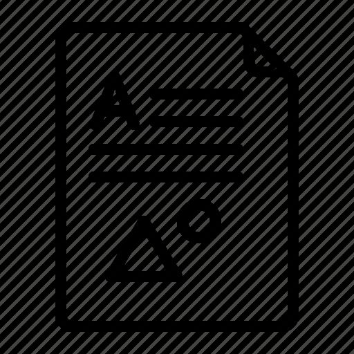 documet, file, format, paper icon