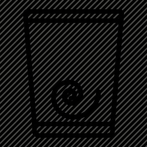 bin, can, full, trash icon