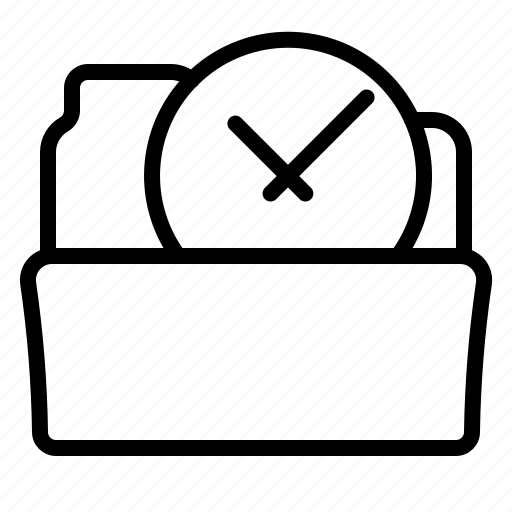 category, clock, folder, open icon