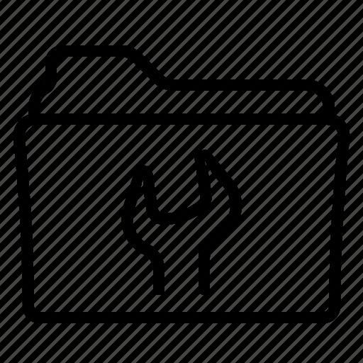 folder, preferences, settings, tools icon