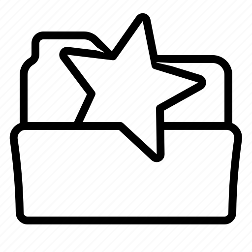 favorite, folder, open, star icon