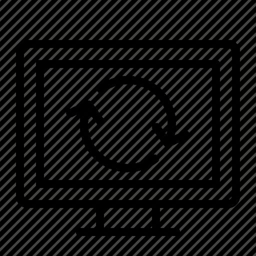 computer, load, refresh, screen icon