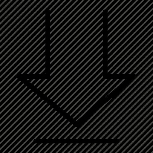 arrow, data, down, download icon