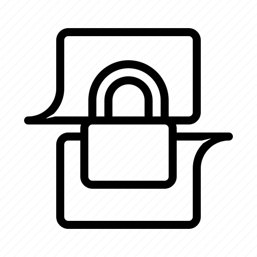 chat, communication, encrypted, message icon