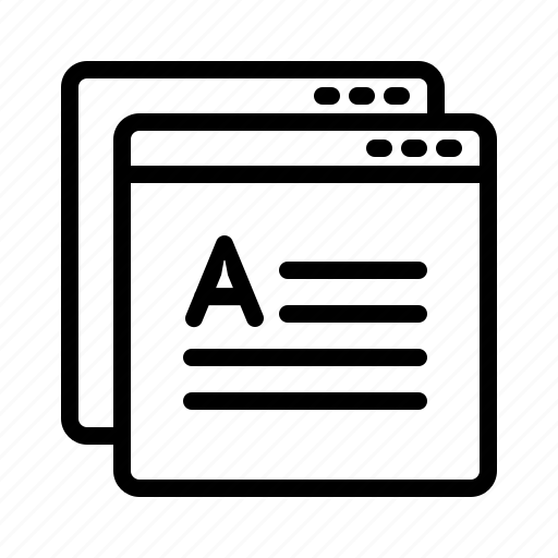 content, copy, page, website icon