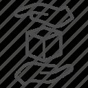 label, warning, frail, box, cube, hand, fragile