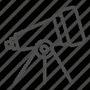 magnify, spyglass, stars, astronomy, telescope, tripod, space