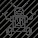 modern, technology, bot, cyborg, robot, hand, antenna