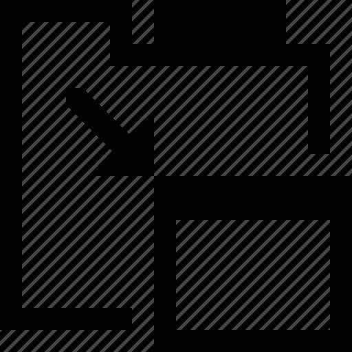 copy, enlarge, float, tab, window icon