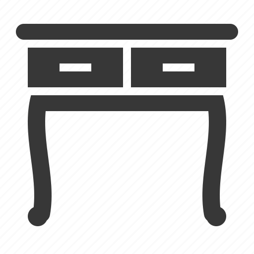 Chair, desk, drawer, furniture, interior, table icon - Download on Iconfinder
