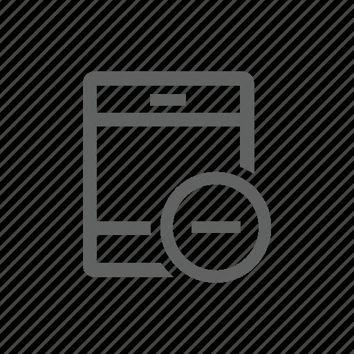delete, ipad, minus, remove, tablet icon