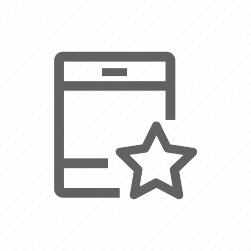 favorite, important, ipad, star, tablet icon