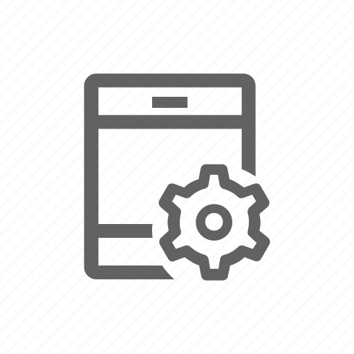 gear, ipad, options, setting, tablet icon
